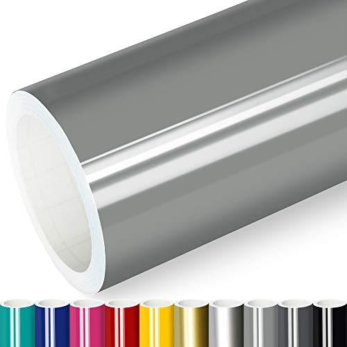 Actinium® Klebefolie 6€/m² Grau Glanz | 5m x 0,63m selbstklebende Folie glänzend | Möbelfolie selbstklebend Küchenfolie Plotterfolie