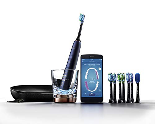 Price comparison product image Philips Sonicare DiamondClean Smart 9700 Rechargeable Electric Toothbrush,  Lunar Blue HX9957 / 51