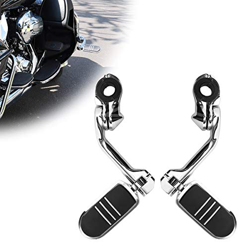 Motorcycle Footpegs Foot Rest Highway Pegs(Chrome) for Harley Honda Road King Street Glide Suzuki Yamaha Kawasaki Engine Guard