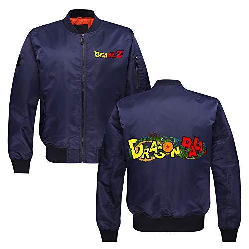 Dragon Ball Pullover For hombre de la juventud collar del soporte del piloto chaqueta del algodón de invierno espesan la capa de la manera Prendas de abrigo Unisex ( Color : Blue01 , Size : M )
