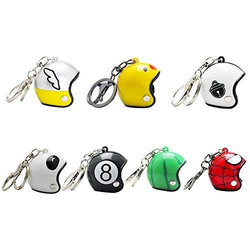 UDBOK Schlüsselbund Kreative Motorradhelm Schlüsselanhänger Auto Schlüsselbund Moto Geschenke Zubehör Anhänger Mehrere Stile Keyfob 7pcs, Helm