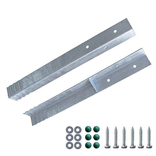 FATMOOSE Winkelanker-Set 2 Stück für Spieltürme, Schaukelgerüste und Leitern, feuerverzinkt, 50 x 4,5 x 4,5cm