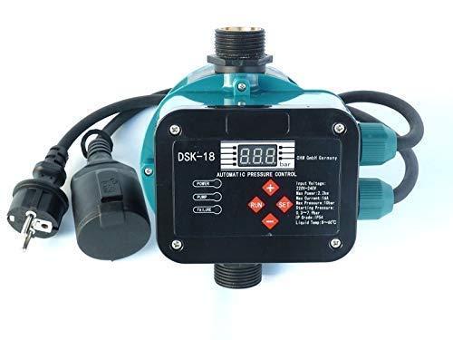 chm GmbH Digitale vollautomatische Pumpensteuerung DSK-18 mit Sensor Technologie ! Master-Chip und Drucksensor steuern das EIN- und Ausschalten der Pumpe. Für Pumpen bis 2,2 kW.