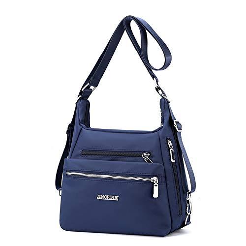 YANAIER Rucksack Tasche Damen 3 in 1 Handtasche Schultertasche Stilvolle Multifunktionale Umhängetaschen für Reise Outdoor Alltag Schule Einkauf Dunkelblau