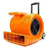 3-Speed Air Mover 1.3HP 5000 CFM Powerful Floor Blower Carpet Dryers Janitoral Floor Dryer with Telescopic Handle, Wheels
