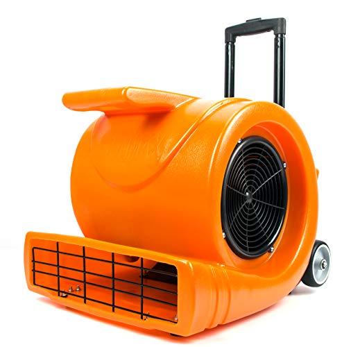 Generic 3-Speed Air Mover 1.3HP 5000 CFM Powerful Floor Blower Carpet Dryers Janitoral Floor Dryer with Telescopic Handle, Wheels