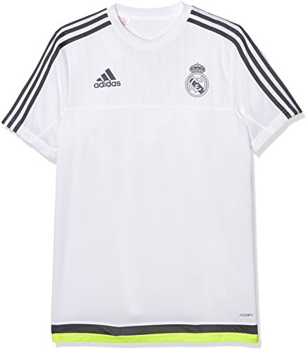 adidas Real Madrid Training Camiseta, Hombre, Multicolor (White/Deepest Space F10 / Solar Yellow), 164