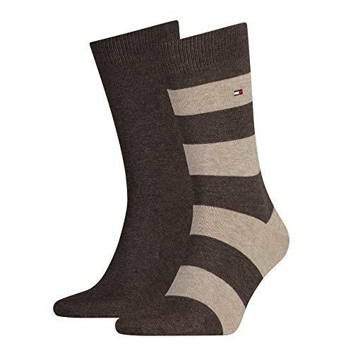 Tommy Hilfiger Herren TH MEN RUGBY 2P Socken, Braun (Oak 778), 43-46 (2er Pack)