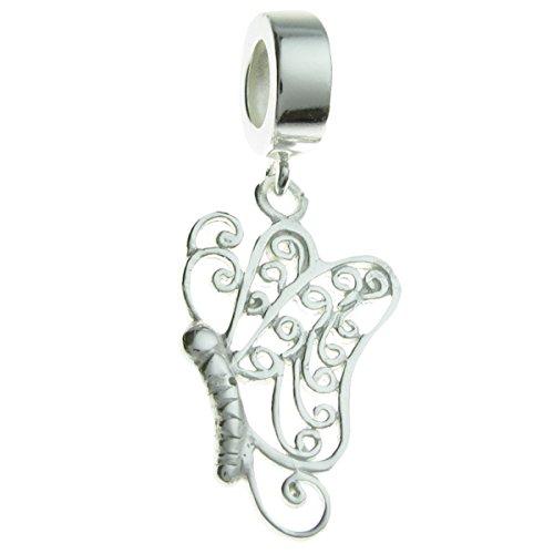 Queenberry broche de plata de ley diseño de filigrana de flores de estilo europeo cuenta de...