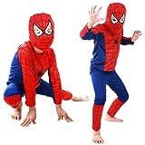 BLG 3l niños Disfraz de superhéroe Rojo Spiderman Disfraz Negro Spiderman Disfraces de Halloween niños Fiesta de cumpleaños