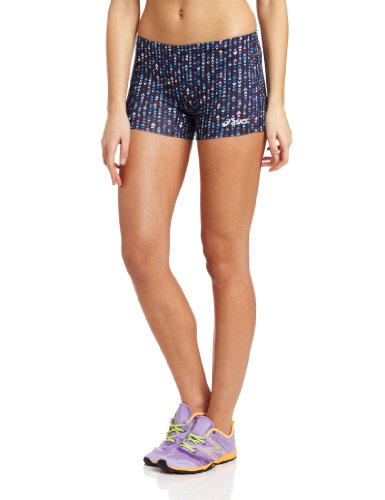 ASICS Damen Tiny Hearts Short, Damen, Marineblau/rot, XX-Small