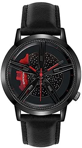 ZFAYFMA El Reloj De Los Hombres, Competir con El Indicador del Cuarzo De Los Deportes Al Aire Libre De Los Deportes Baratos del Neumático del Reloj De La Rueda Black