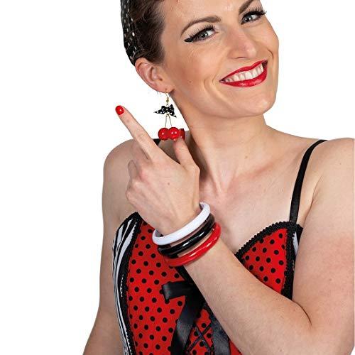 Extravagante Rock n Roll Armringe für Damen / Stylisches Vintage Armband Pin Up Girl / Bestens geeignet zu Karneval & Kostümfest