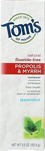 Tom's of Maine (NOT A CASE) Fluoride-Free Propolis & Myrrh Toothpaste Spearmint