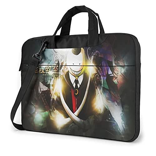 VJSDIUD Borsa del portatile 15.6 Inch Assassination Classroom One-Shoulder Portable Tablet Briefcase Ultra-Light Shockproof