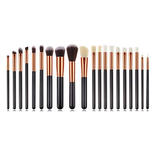 Fxhan 20pcs Makeup Brushes Cosmetic Brushes for Foundation Powder Blush Concealers Eye Shadows Kit...
