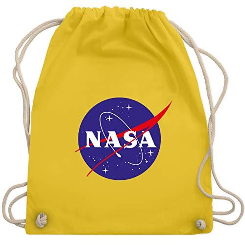 Shirtracer Statement - Nasa Meatball Logo - Unisize - Gelb - nasa sportbeutel - WM110 - Turnbeutel und Stoffbeutel aus Baumwolle