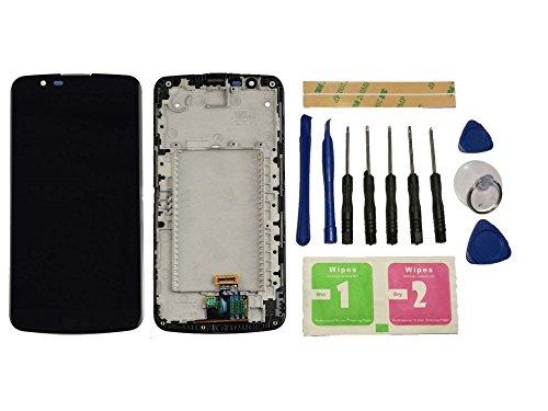 Flügel para LG K10 LTE K420N K430 K430ds Pantalla LCD pantalla Negro Táctil digitalizador Completo Pantalla ( con marco ) de Recambio & Herramientas