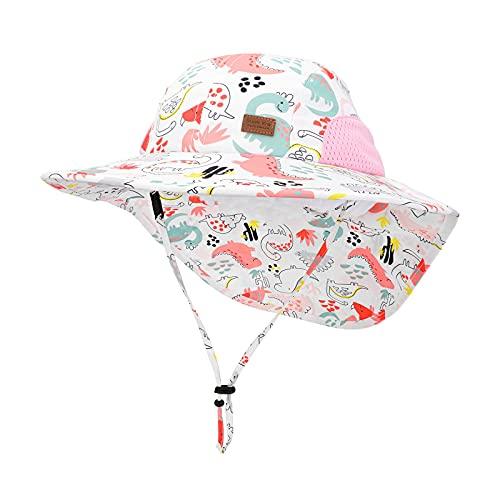 JUPSK Kinder Eimer Hut, Kind Sonnenhut UV-Schutz Baby Beach Cap Sommerhut für Kleinkind Jungen Mädchen