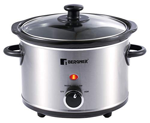 Bergner Stainless Steel Elite Slow Cooker (1,5Ltr)
