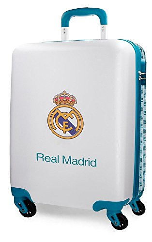 Real Madrid RM Leyenda Equipaje de Mano, 55 cm, 38 litros, Blanco