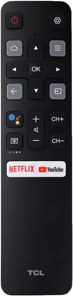 RC802V FMR1 Original Voice Remote for TCL Android TV 40S330 32S330 43S434 50S434 55S434 65S434 75S434 32S6500A 65P8S 65P8 55P8S 55P8 55EP680 50P8S 50P8 40A325 49S6800 32S6510S 32A325 32A323