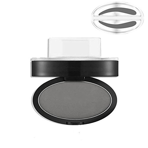 Bluelover Gris Brown Stamp Seal Eye Butrow Powder Maquillage Brow Waterproof Eye Cosmetic Tool # 03