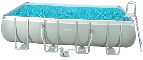 Intex 54482 GS – Marco de Piscina Set Rectangular Aprox. 549 x 274 x 132 cm con Bomba