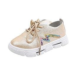 Cartoon Sequins Rabbit Flat Sneaker Shoe In Gold