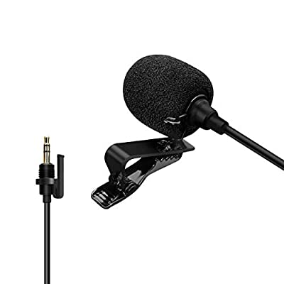 Comica CVM-SM-O1 Omni-directional Lavalier Lapel Microphone with 3.5mm TRS Jack, Clip-on Condenser Mic for DSLR Camera, Comica BoomX-D, Sennheiser, and Other Wireless Transmitter(3.94ft)