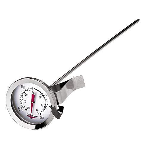 Paderno 19706-00 Termometro Cucina Multiuso in Acciaio Inox 18/10, per Fritti, Carni, Acqua, Alimenti, Liquidi-Lunghezza 31 cm, Inossidabile, Grigio, 5 cm