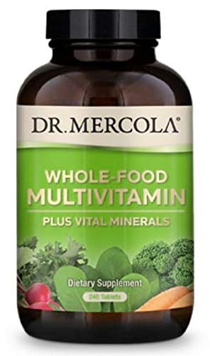 Dr. Mercola Whole Food Multivitamin Plus Vital Minerals Dietary Supplement, 30 Servings (240 Tablets), Non GMO, Soy Free, Gluten Free