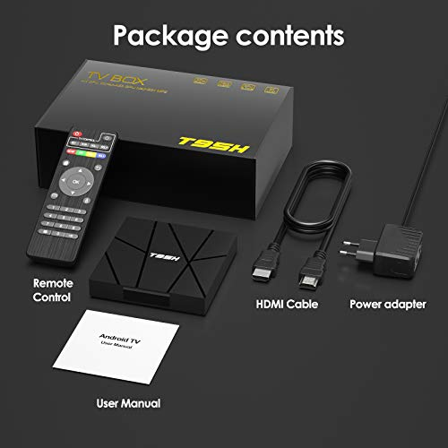 2020 Android TV Box 10.0, T95H 1GB RAM 8GB ROM Allwinner H616 Quad-Core Smartbox 64-bit, Soporte 6K, H.265, 3D, 2.4G WiFi, 10 / 100M Ethernet, etc. miniatura