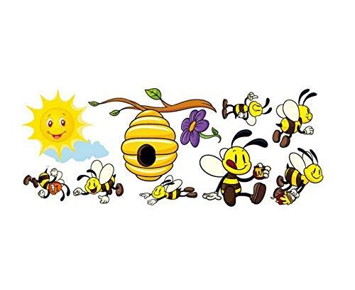 Simpatico cartone animato ape pvc animale parete adesivo creativo decorazione domestica carta da parati autoadesiva