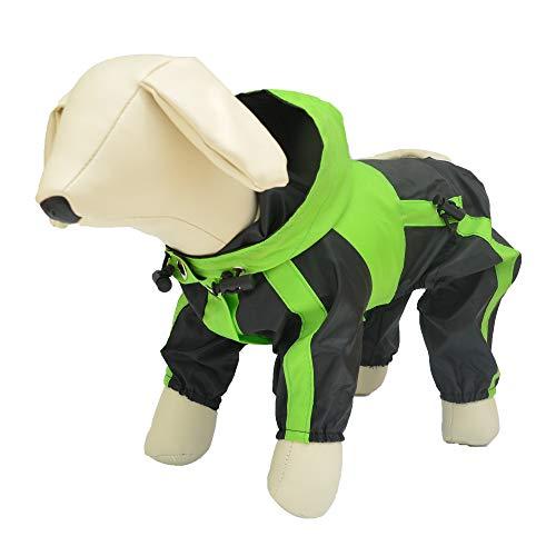 Lovelonglong Dog Hooded Raincoat, Small Dog Rain Jacket Poncho Waterproof Clothes with...