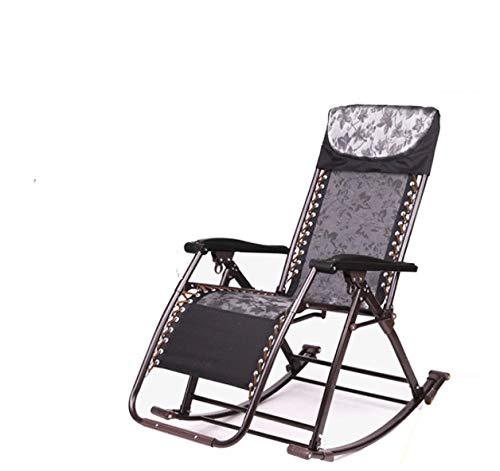Oficina Silla de Ocio al Aire Libre cómodo Relax Mecedora Silla Plegable sillón Relax Sillareclinable para Siesta 180 kg rodamiento - a2, b1