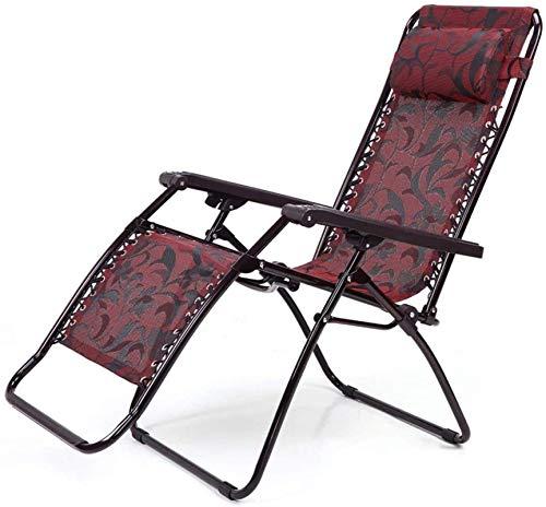 Recliner Lounge Chair Klappstuhl Office Nap Chair Freizeitstuhl Sun Lounge Beach Chair und Klappsessel Liegestühle Liegestühle und Zero Gravity Chair