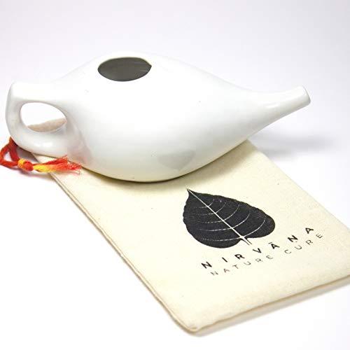 Nasendusche   Keramiktopf Neti Pot   Natürliche Heilung für Sinusitis Jal Neti   Natürliches abschwellendes Mittel für die Nase   Nasenspülung   Handgemacht   Neti Pot  