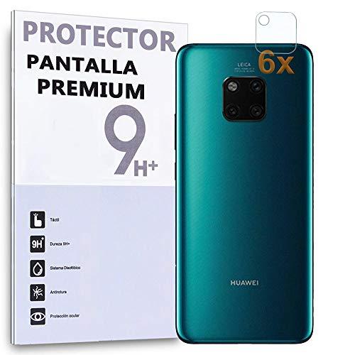 REY Protector de Pantalla para Cámara Trasera Huawei Mate 20 Pro, (Pack 6X)