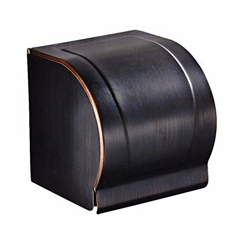 XY&XH Bain européen toilette Gula imitation Si l'emballage imperméable à l'eau de semi-étanche noir boîtes de tissu ensemble, dimensions: Hauteur Largeur 128 124 (mm)