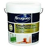 Pintura plastica Bruguer emultone mate blanco 15 lt