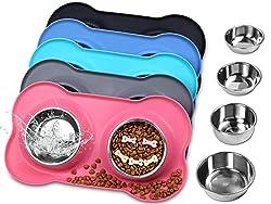 Image of Vivaglory Dog Bowls...: Bestviewsreviews