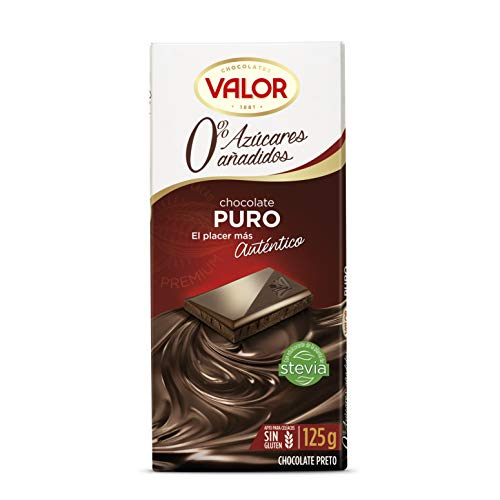 Chocolates Valor - Chocolate puro sin azucares - 125 g