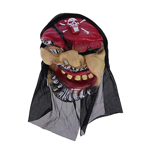 PRETYZOOM Halloween Horrible Demon Mask Phantasie Vinyl Gesicht Kostüm Twisty Pirate Headgear Kopfbedeckung für Party Requisiten