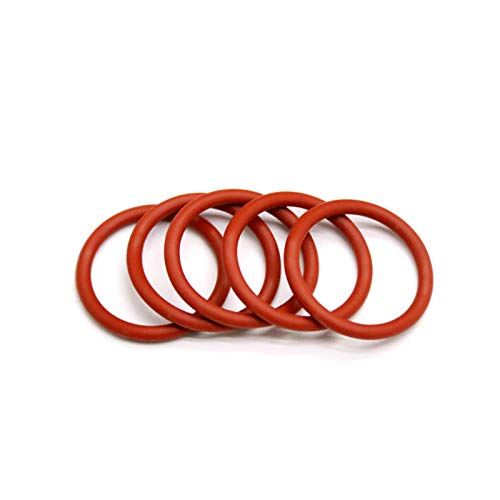 100pcs O Ring Seal Gasket Thickness 2mm Insulated Waterproof Washer, Od 14mm, Red 2Mm