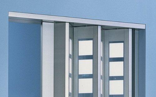 Zusatzlamelle für Falttür New Generation Fb. Alu - Fenster Karo weiss-satiniert B 14 x H 205 cm