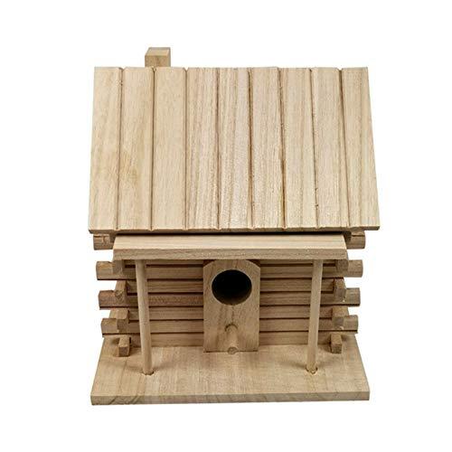 Borlai Jaula de madera para pájaros, caja de calidez, estación de cría de casa, pájaros, jaula de aviario para periquitos al aire libre