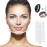 Lot de 10 visières de Protection + 1distributeur de Gel + Accessoires de Protection Facial – Sécurité Optimale – Norme CE – Idéal en Protection Contre poussière, Virus, Pollution, salive,poustillion