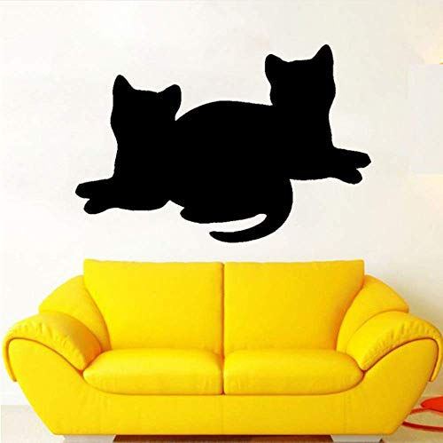 Decoratieve stickers, katten, comic-stoel, afneembaar, voor kinderkamer, wandstickers, 58 cm x 39 cm