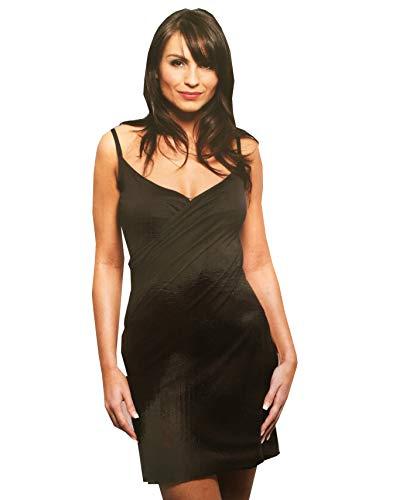 Klassisches, schwarzes Strandkleid von Saress, Sarong-Top Gr. 40, schwarz